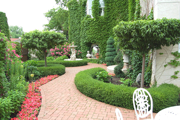 طراحی فضای سبز حیاط ویلا